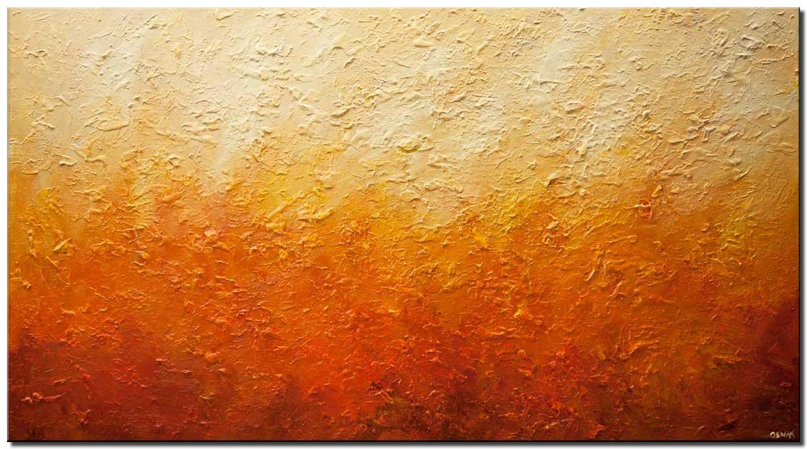 canvas print of modern textured orange abstract art