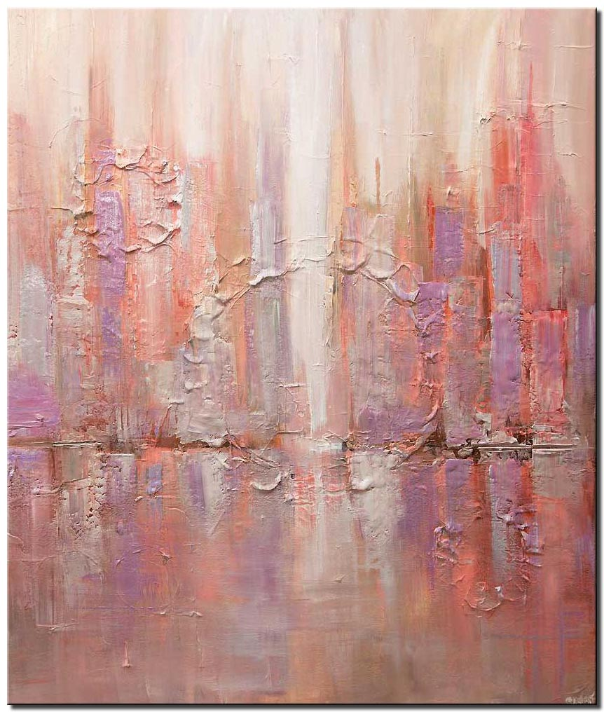 canvas print of modern abstract city painting