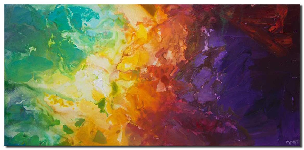 canvas print of colorful abstract painting