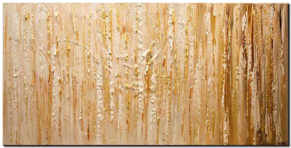 gold textured abstract art