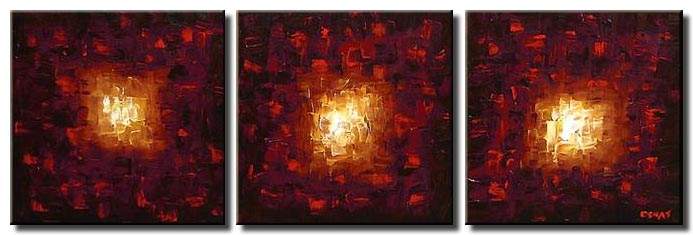canvas print of fire art