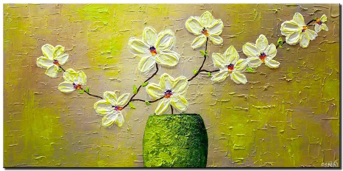 white orchide painting