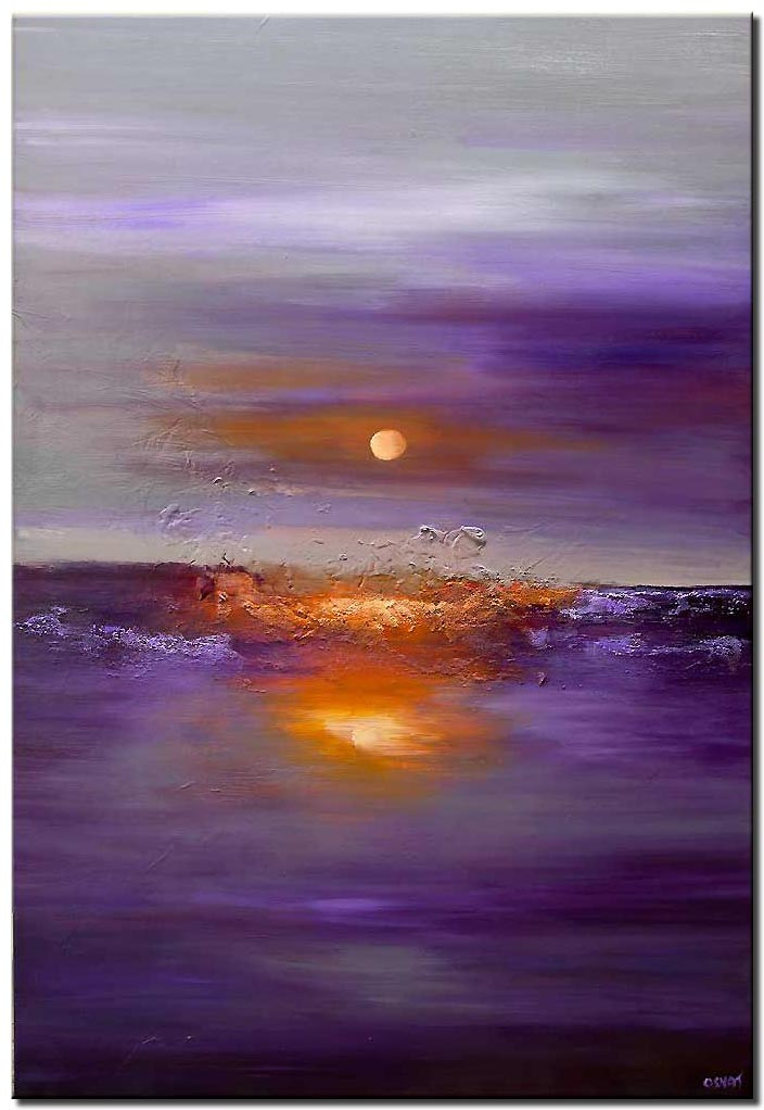 modern large purple abstract art