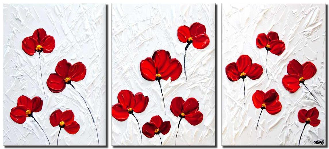 canvas print of Poppies Abstract Art