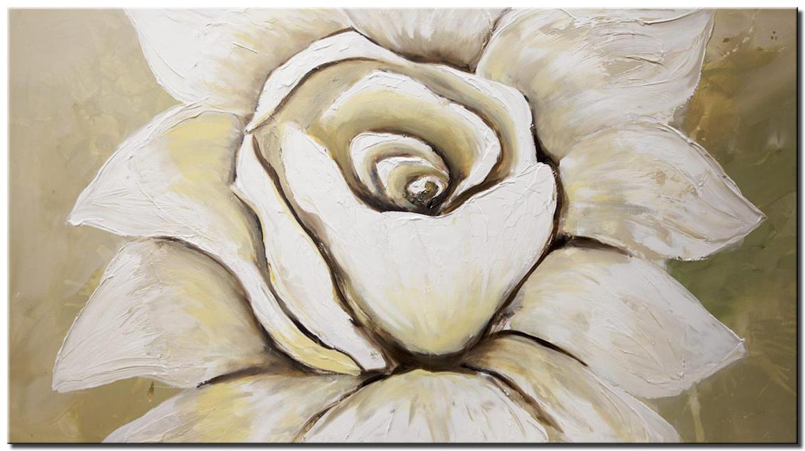 white flower abstract painting