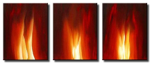 canvas print of paintings of flames