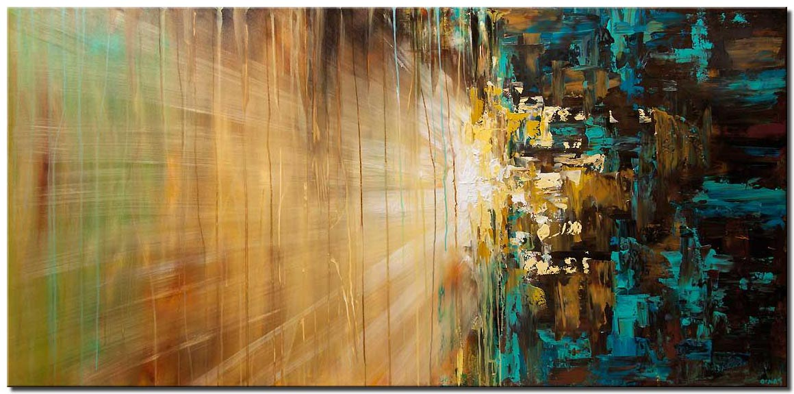 canvas print of large abstract painting