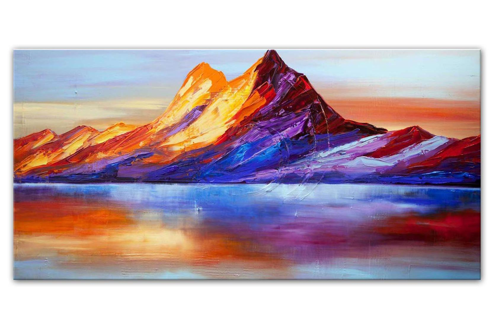 mountain abstract painting