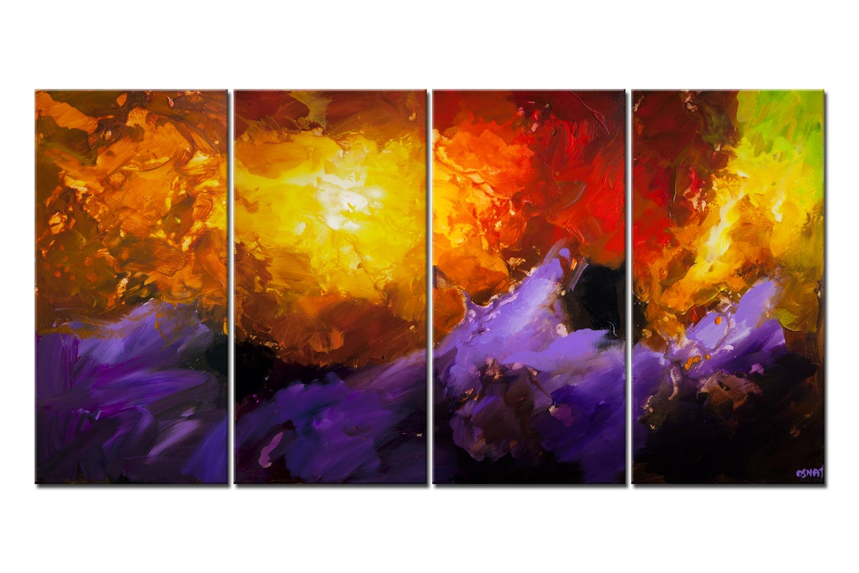 modern colorful splash abstract painting
