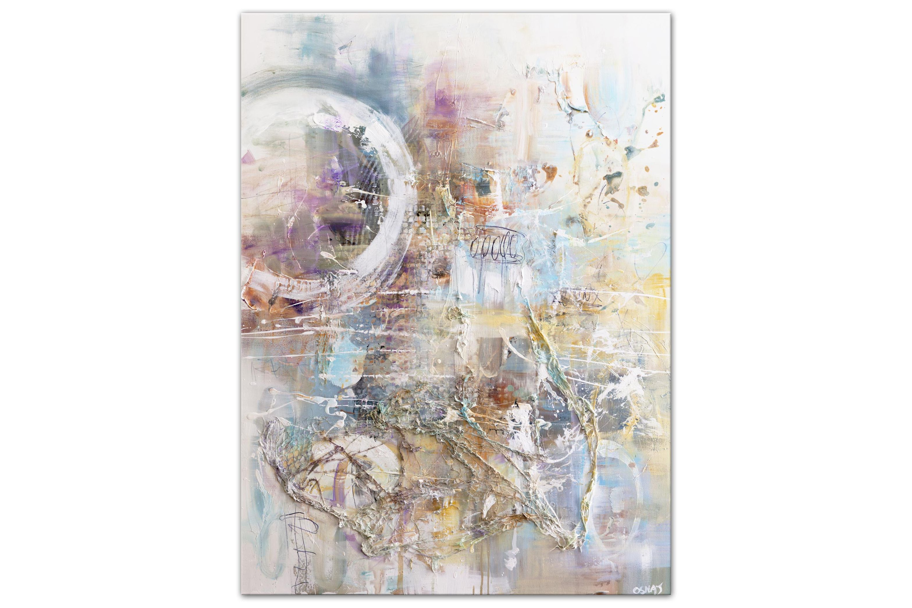 soft colors large abstract painting