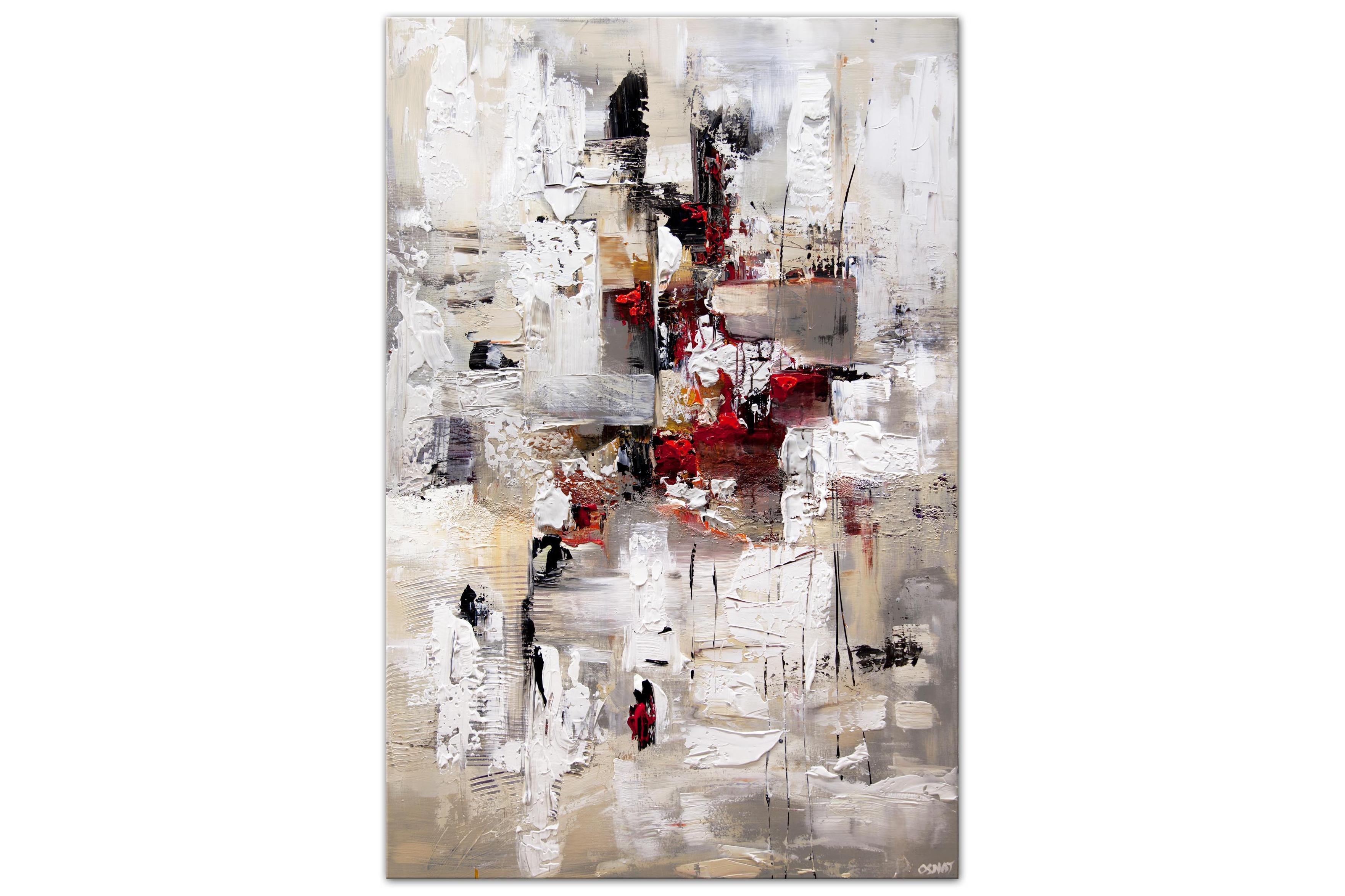 modern large abstract painting soft colors