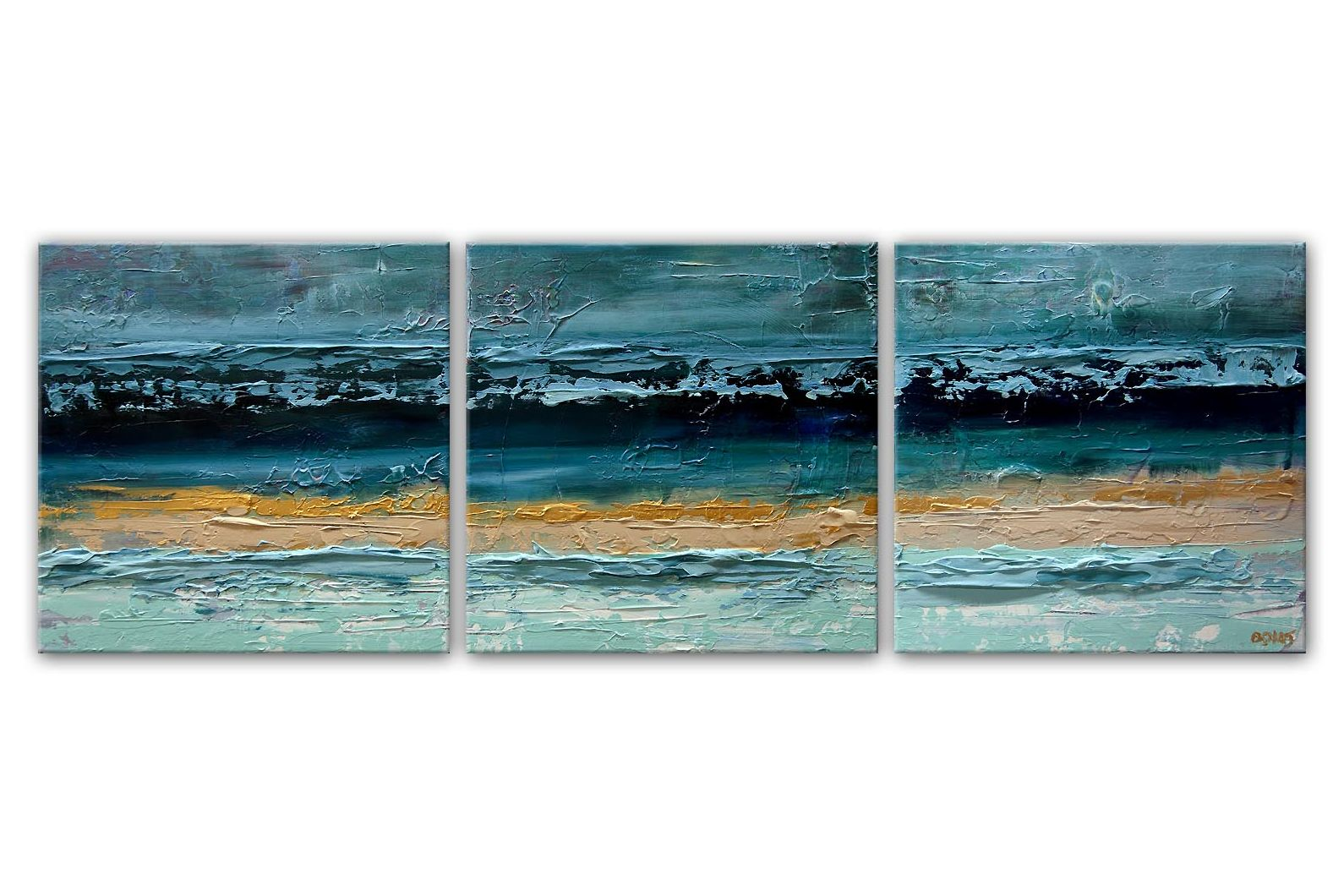 modern palette knife Ocean Abstract Painting