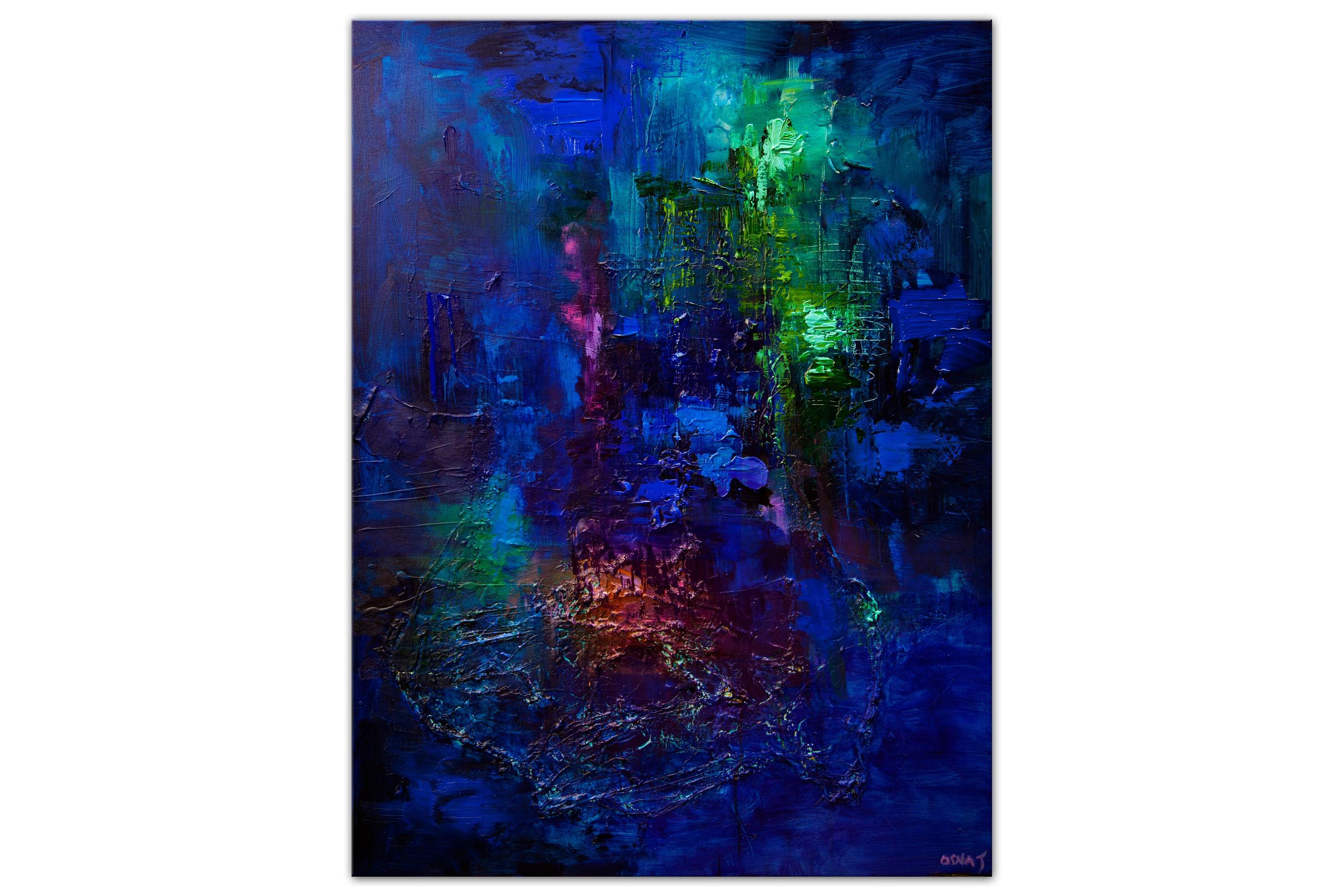 big modern blue abstract art