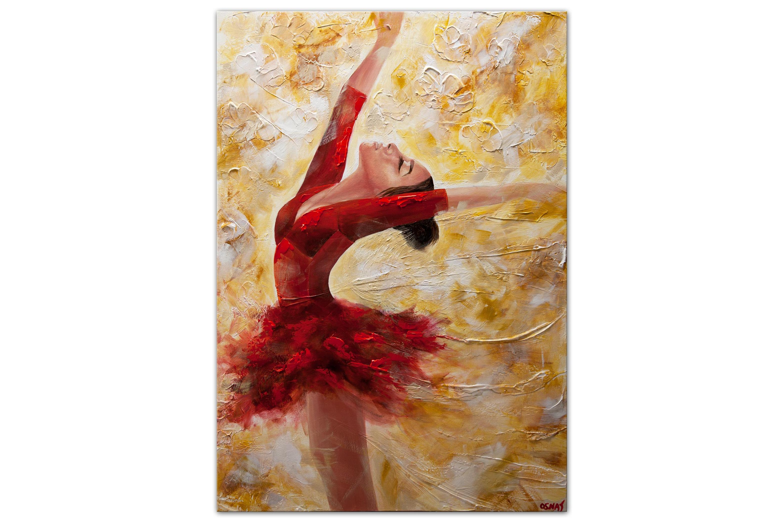 ballet dancer painting ballerina abstract painting