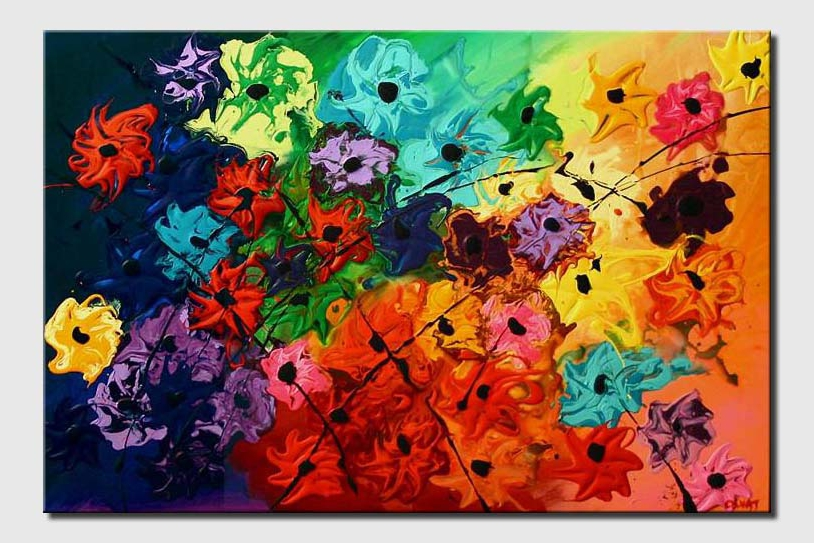 Abstract Floral Painting (#5486) Garden of Eve
