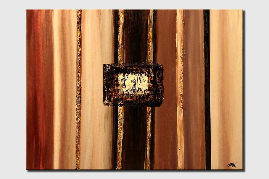 abstract painting in earth tones balance square