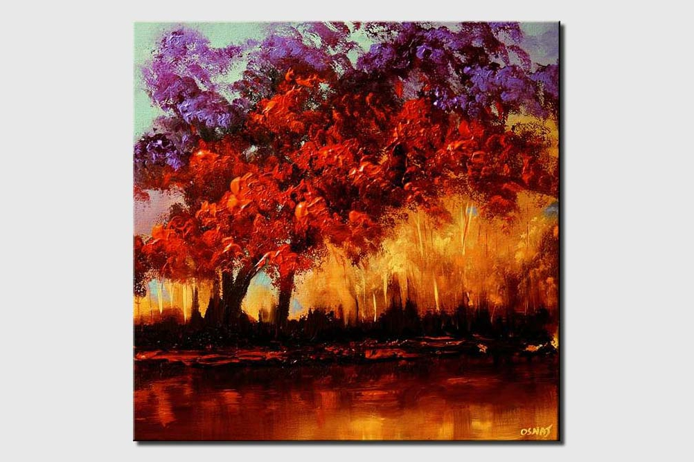 colorful blooming trees home decor forest