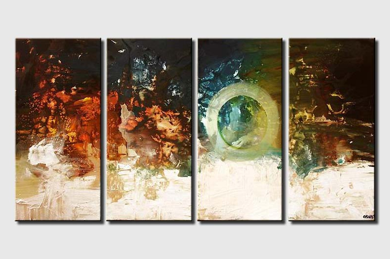 contemporary painting wall decor colorful