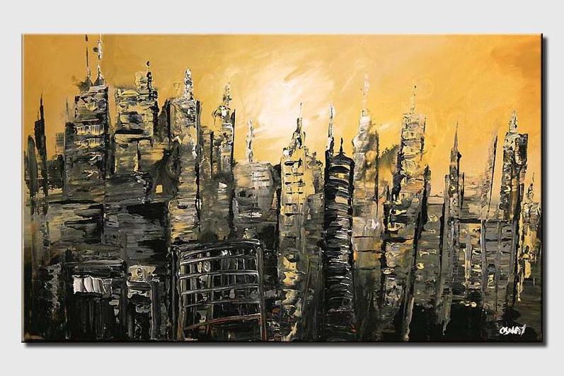 abstract cityscape in ruins city rush hour