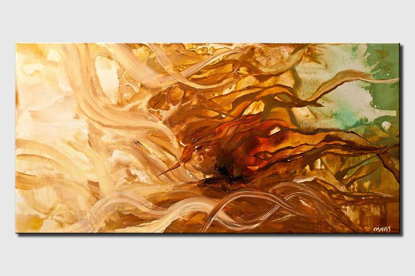 abstract waves in rusty brown colors soft