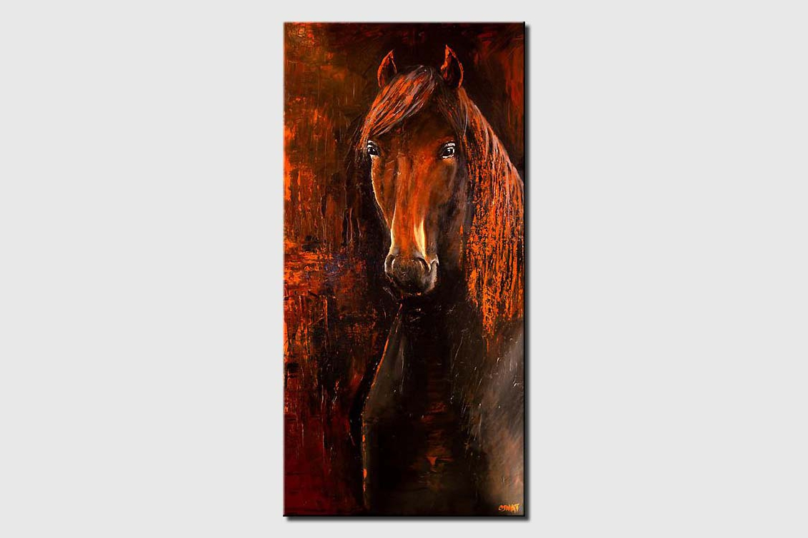 large horse painting wall decor abstract