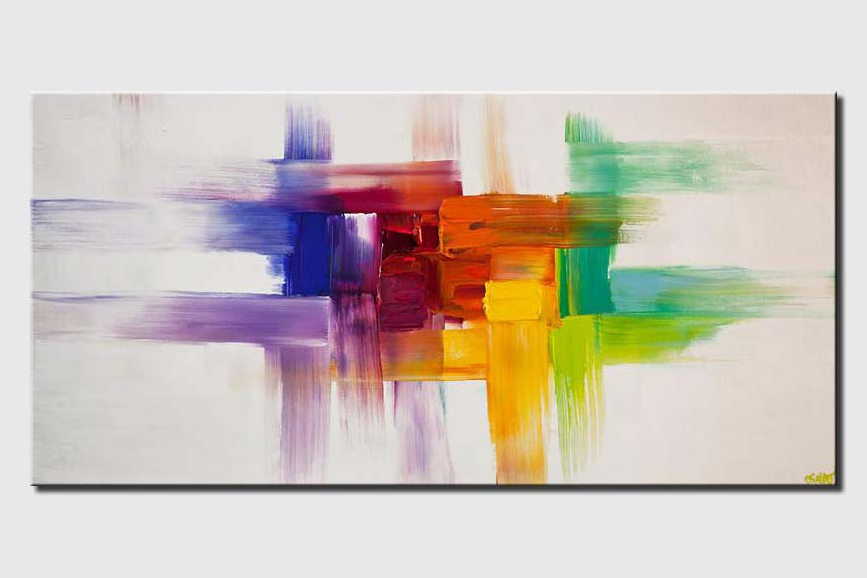 colorful abstract painting on white