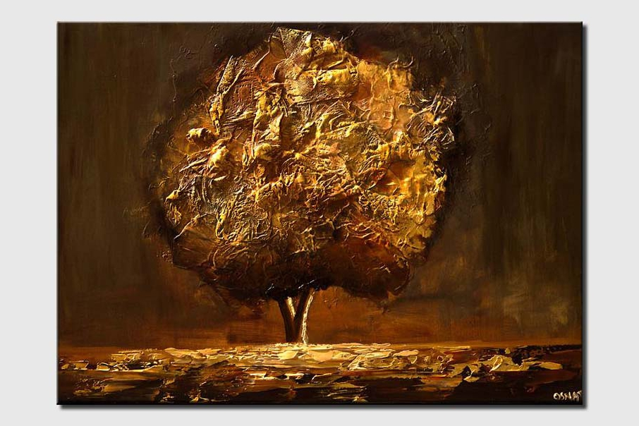 gold brown tree