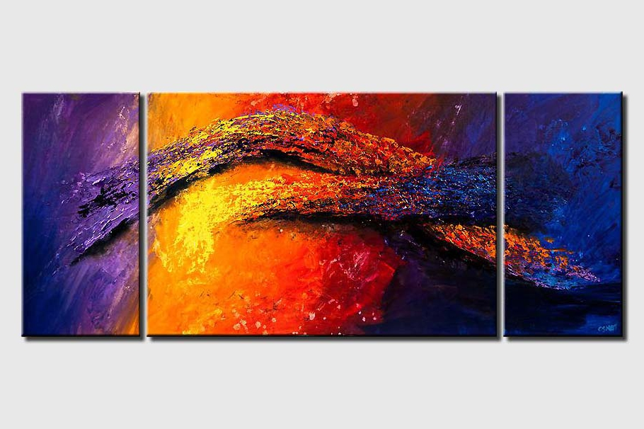 colorful abstract painting heavy impasto texture