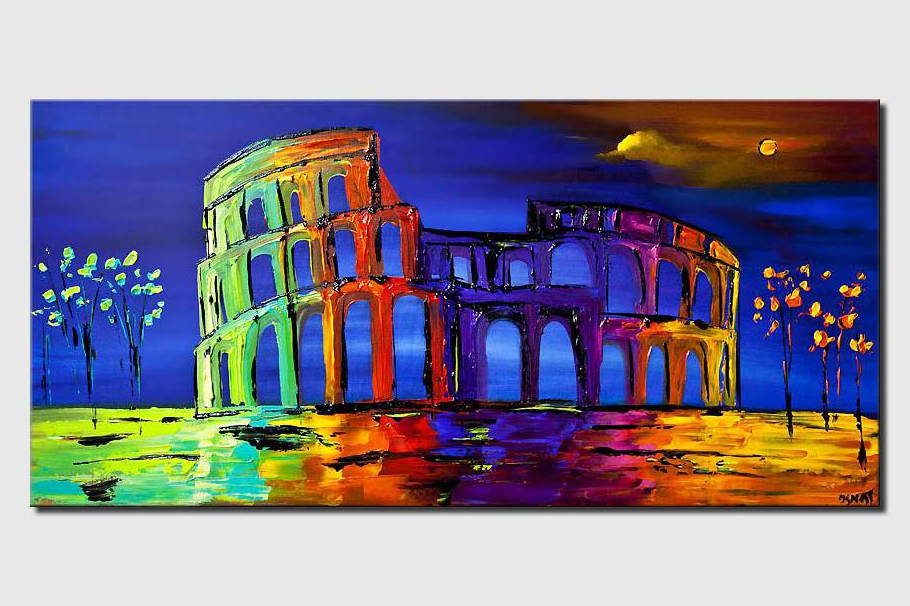 colosseum abstract painting