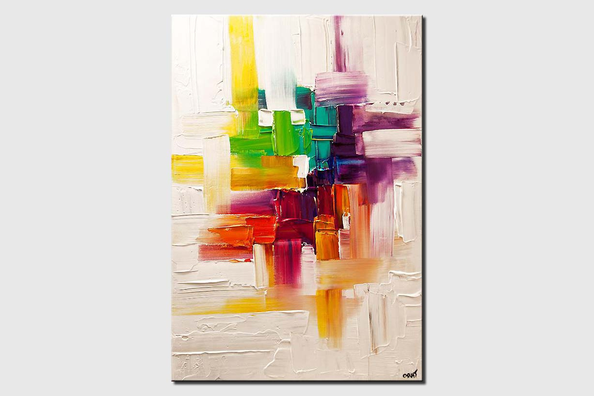 colorful abstract painting on white background texture
