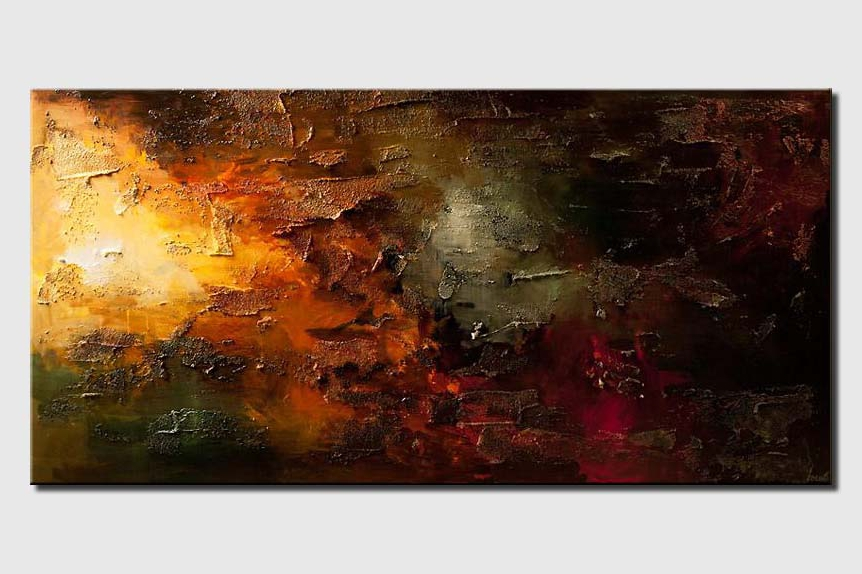 big contemporary abstract painting textured