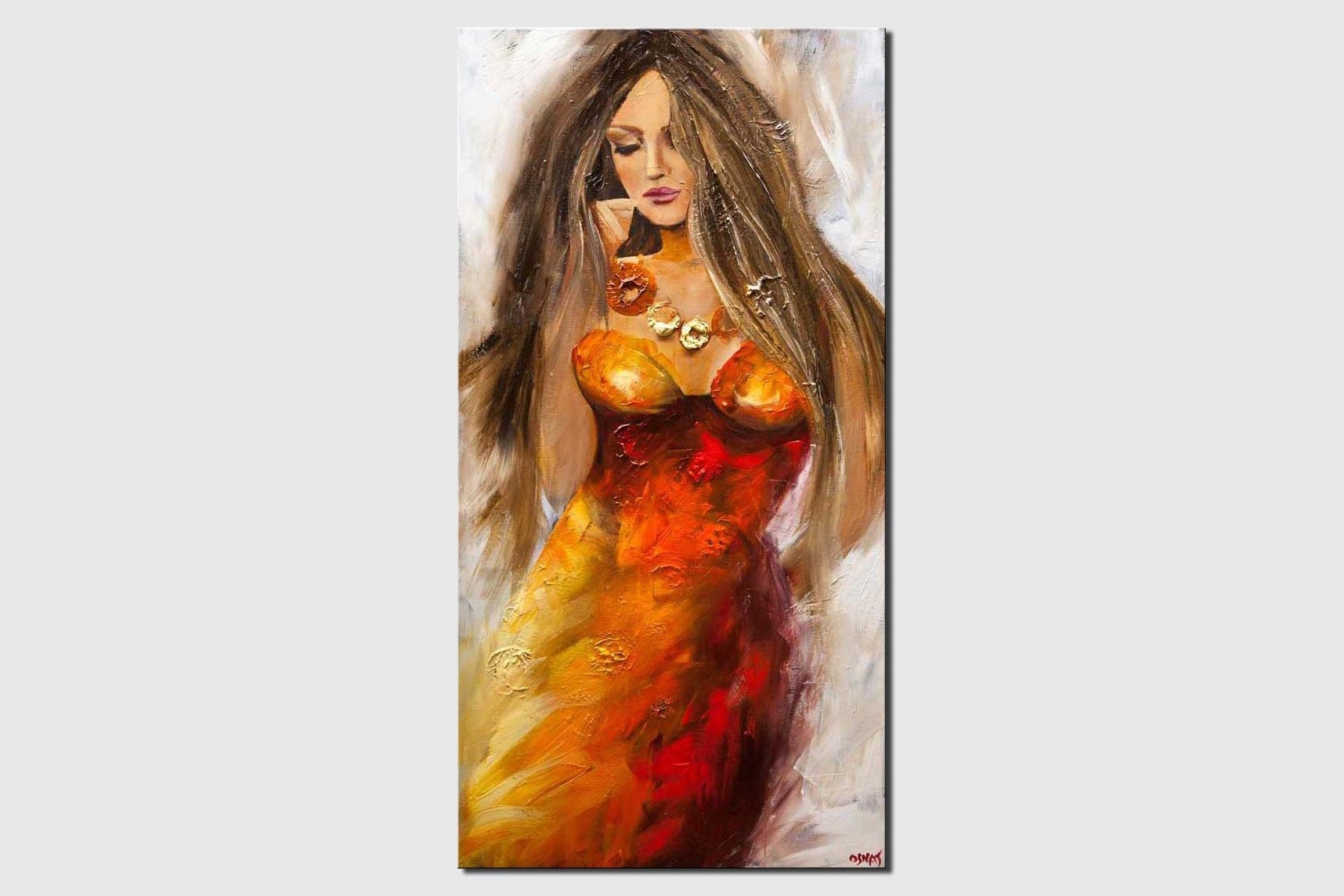 sexy woman figure painting