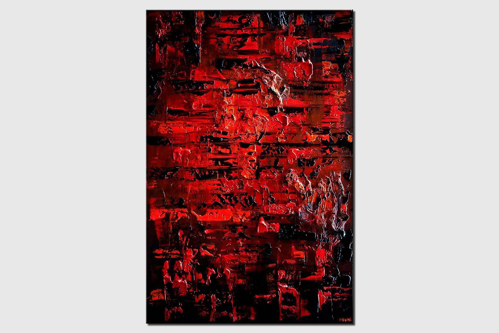 red black textured abstract art