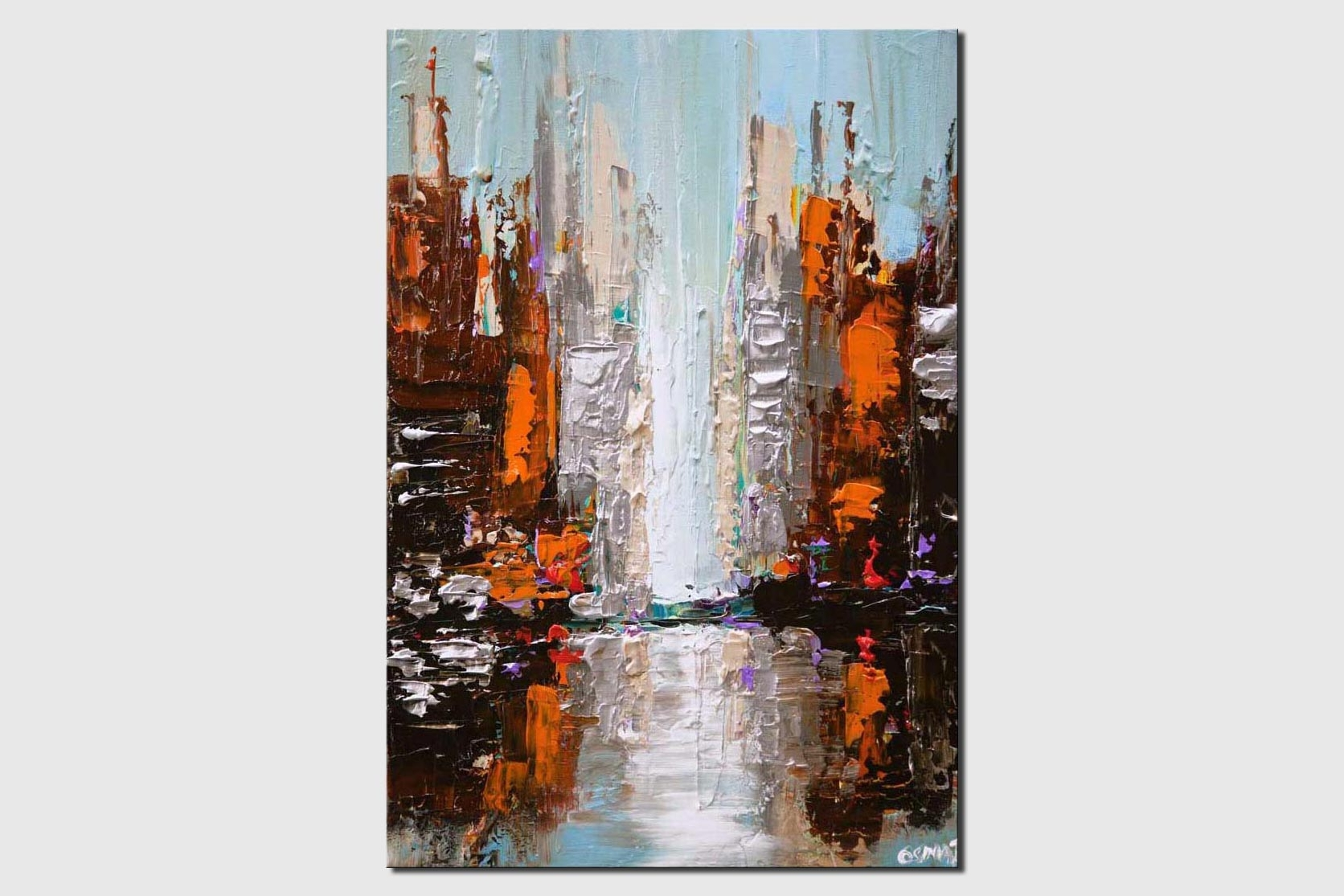 cityscape painting city abstract art