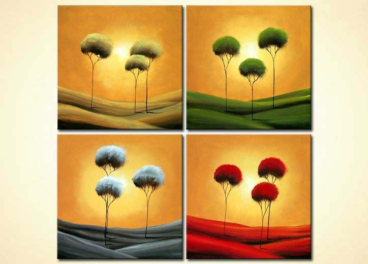 modern abstract art - The Four Seasons