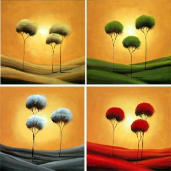 Forest painting - The Four Seasons