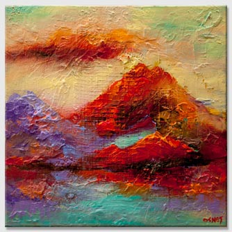 colorful coastal abstract painting