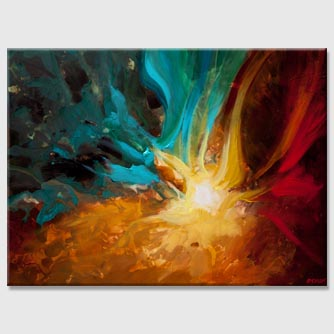 abstract star sun galaxy painting