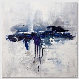 white blue abstract painting
