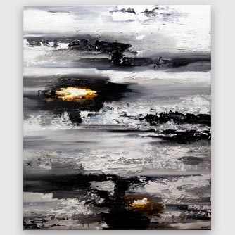big modern black white abstract art