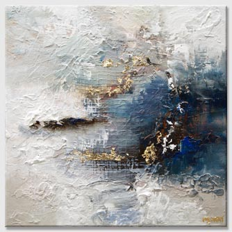 blue gold painting heavy texture