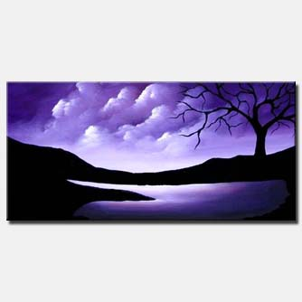 purple landscape painting day of creation