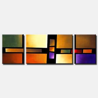 triptych canvas modern art