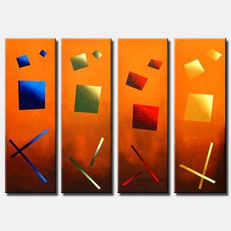 multi panel canvas modern squares