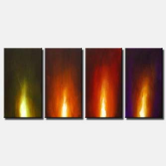 fire painting multi panel