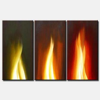 painting of flames