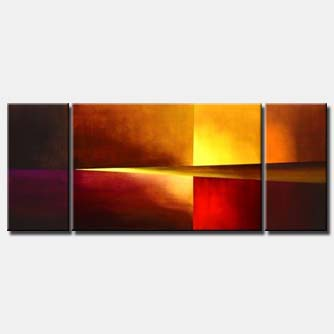 abstract triptych modern painting