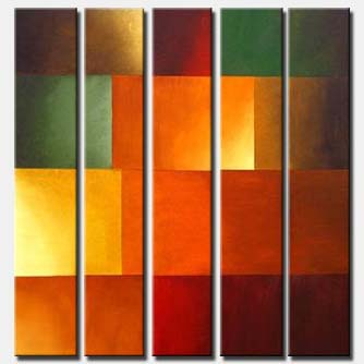 multi panel vertical abstract painting