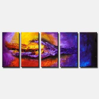multi panel purple painting