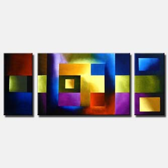 colorful triptych canvas